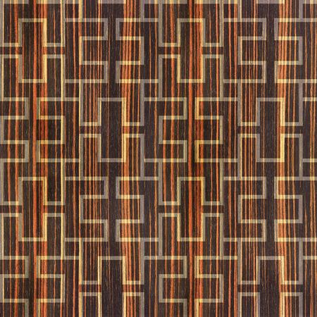 ebony: Abstract paneling pattern - seamless background - cassette floor - Ebony wood texture
