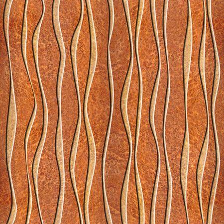 elm: Abstract decorative paneling - seamless background - waves decor - Carpathian Elm wood texture