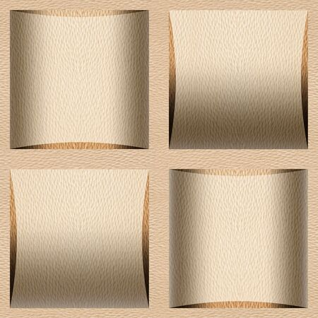 Abstract paneling pattern - seamless background - White Oak wood texture