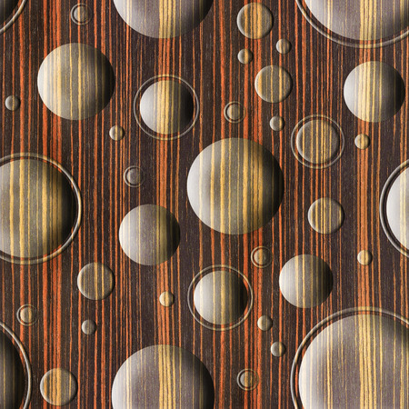 ebony: Bubble decorative wooden pattern for seamless background - Ebony wood texture