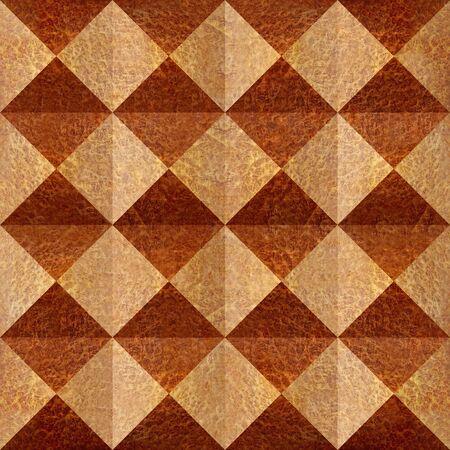 Abstract paneling pattern - pyramidal pattern - Carpathian Elm wood texture