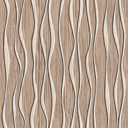 blasted: Abstract decorative paneling - seamless background - waves decor - Blasted Oak Groove wood texture