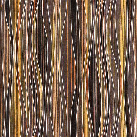 waves pattern: Abstract paneling pattern - waves decoration - seamless background - Ebony wood texture