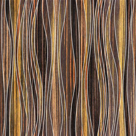 ebony: Abstract paneling pattern - waves decoration - seamless background - Ebony wood texture