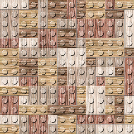 blasted: Wooden construction blocks stacked for seamless background - Blasted Oak Groove wood texture Stock Photo