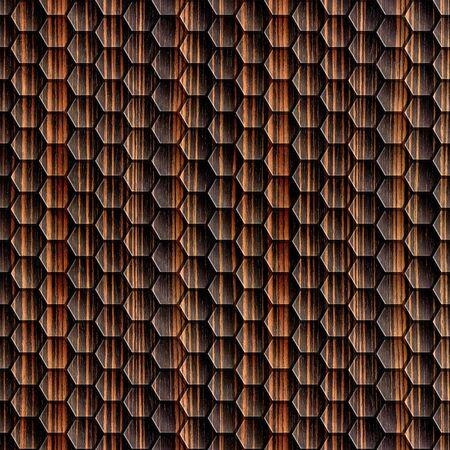 ebony wood: Abstract wooden grid - seamless background - Ebony wood texture Stock Photo