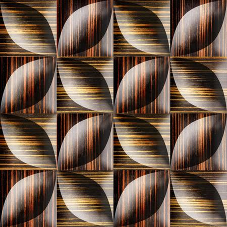 ebony: Abstract decorative tiles stacked for seamless background - Ebony wood texture Stock Photo