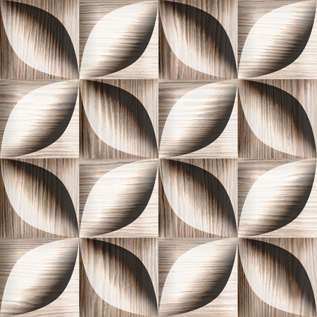 blasted: Abstract decorative tiles stacked for seamless background - Blasted Oak Groove wood texture
