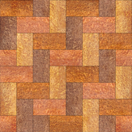 panelling: Wooden rectangular parquet stacked for seamless background - Carpathian Elm wood texture Stock Photo