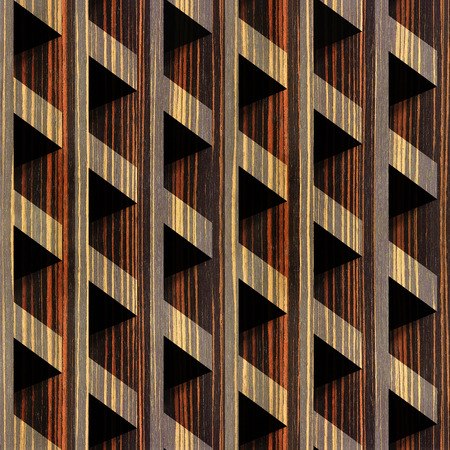 veneer: Abstract paneling blocks stacked for seamless background - Ebony wood texture