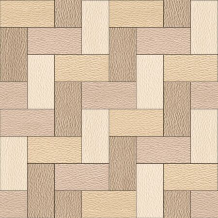 panelling: Wooden rectangular parquet stacked for seamless background - White Oak wood texture Stock Photo