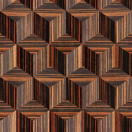 ebony: Wooden parquet blocks - seamless background - Ebony wood texture