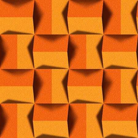 Abstract paneling pattern - seamless background - tangerine texture