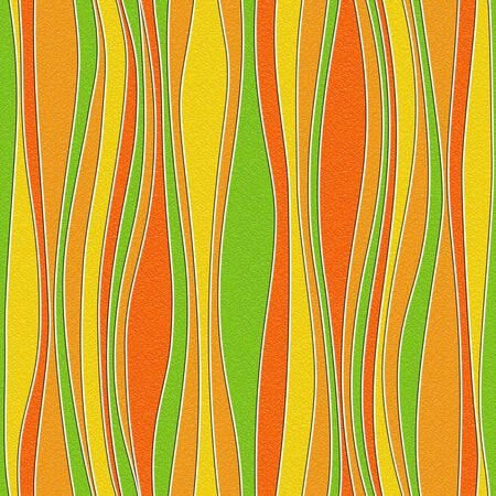 Abstract wavy pattern - seamless background - citrus texture