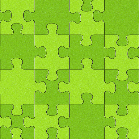 Abstract puzzles pattern - seamless background - lime texture