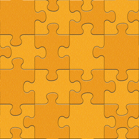 multivitamins: Abstract puzzles pattern - seamless background - orange texture
