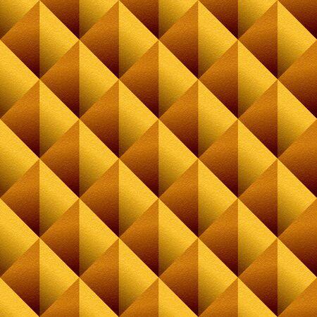 orange texture: Decorative triangular pattern - seamless background - orange texture Stock Photo