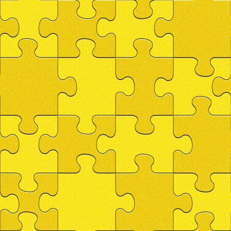 Abstract puzzles pattern - seamless background - lemon texture