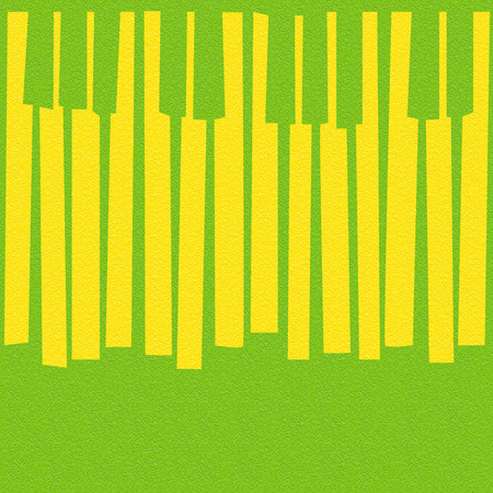 Abstract musical piano keys - seamless background - citrus texture