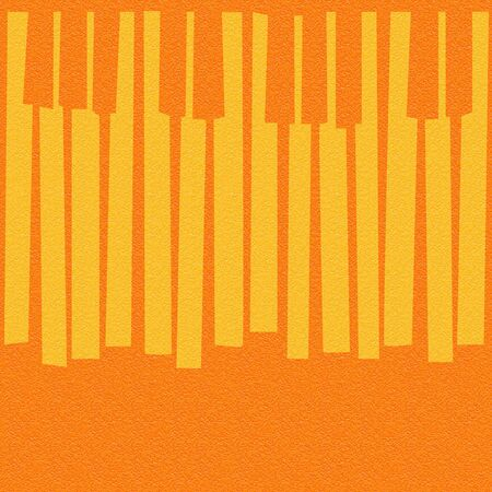 Abstract musical piano keys - seamless background - orange texture Stock Photo
