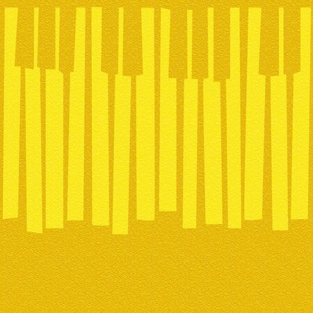 multivitamins: Abstract musical piano keys - seamless background - lemon texture Stock Photo