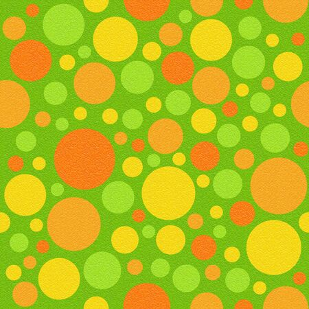 Abstract circular pattern - different colors - seamless background - citrus texture Stock Photo