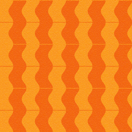 Abstract paneling pattern - waves decor - seamless background - tangerine texture