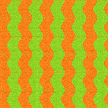 sinuous: Abstract paneling pattern - waves decor - seamless background - citrus texture Stock Photo