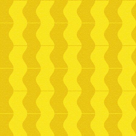 multivitamins: Abstract paneling pattern - waves decor - seamless background - lemon texture Stock Photo