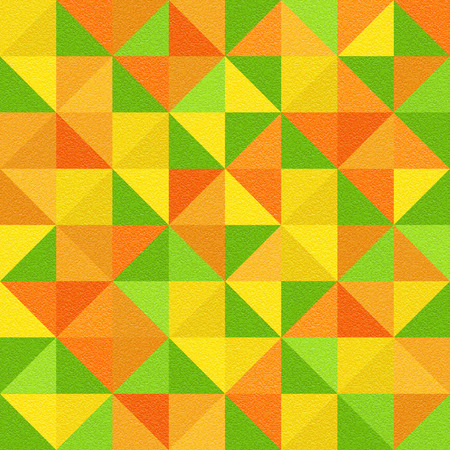 multivitamins: Abstract triangle pattern - different colors - seamless background - citrus texture