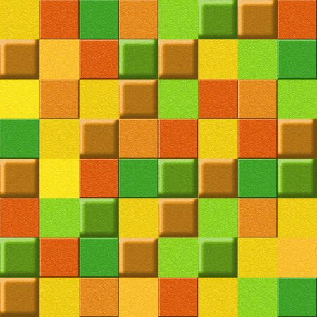 multivitamins: checkered pattern - different colors - seamless background - citrus texture