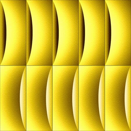 Abstract decorative paneling - waves decoration - lemon texture