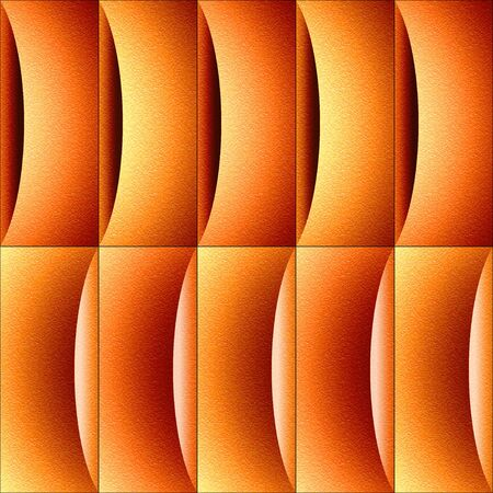 multivitamins: Abstract decorative paneling - waves decoration - tangerine texture