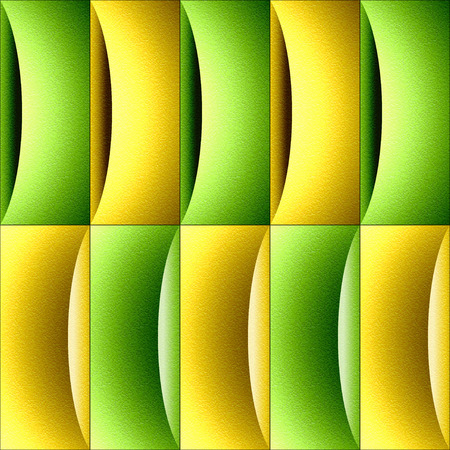 Abstract decorative paneling - waves decoration - citrus texture Stock Photo