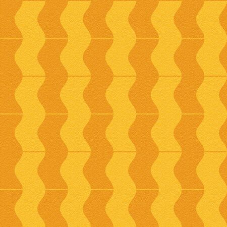 multivitamins: Abstract paneling pattern - waves decor - seamless background - orange texture Stock Photo