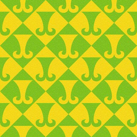 Abstract paneling pattern - seamless background - hipster symbol - citrus texture Stock Photo