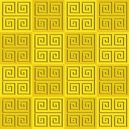 multivitamins: Abstract paneling pattern - seamless background - cassette floor - lemon texture