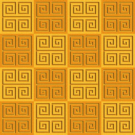 orange texture: Abstract paneling pattern - seamless background - cassette floor - orange texture