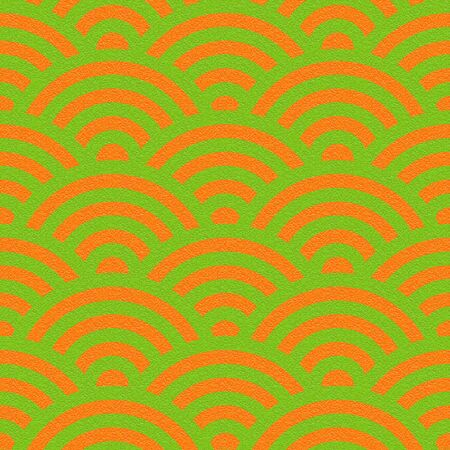 Abstract arched pattern - seamless background - citrus texture