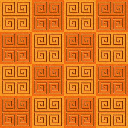 Abstract paneling pattern - seamless background - cassette floor - tangerine texture