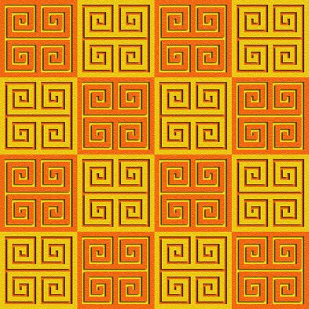 Abstract paneling pattern - seamless background - cassette floor - citrus texture