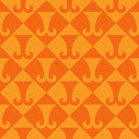 multivitamins: Abstract paneling pattern - seamless background - hipster symbol - tangerine texture