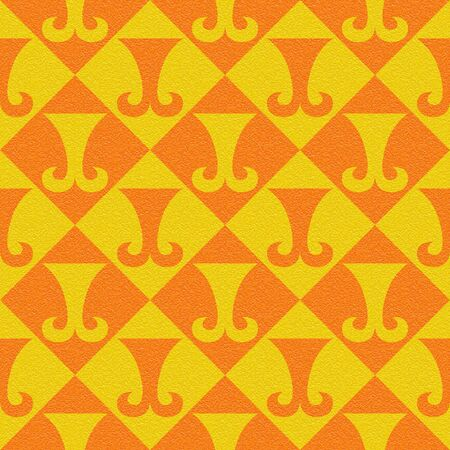 paneling: Abstract paneling pattern - seamless background - hipster symbol - citrus texture Stock Photo