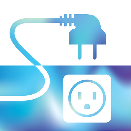 electrical connection - wire plug and socket - symbol electricity