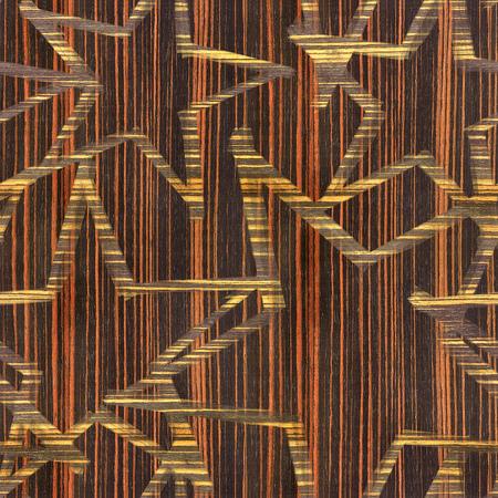 ebony: Christmas wallpaper with stars - seamless background - Ebony wood texture Stock Photo