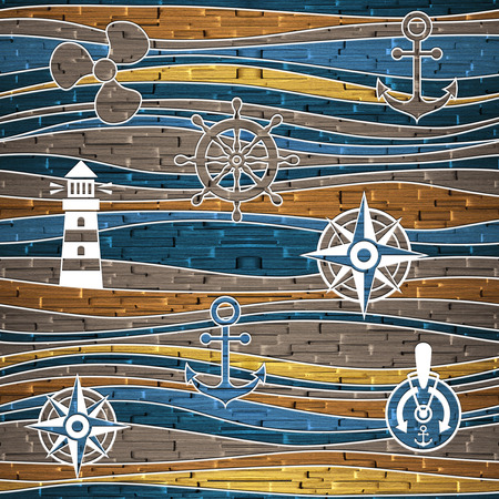nautical: Nautical decoration - waves decoration