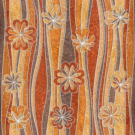 veneer: Floral decorative pattern