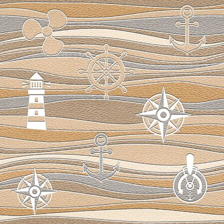 docking: shipping wallpaper - waves decoration