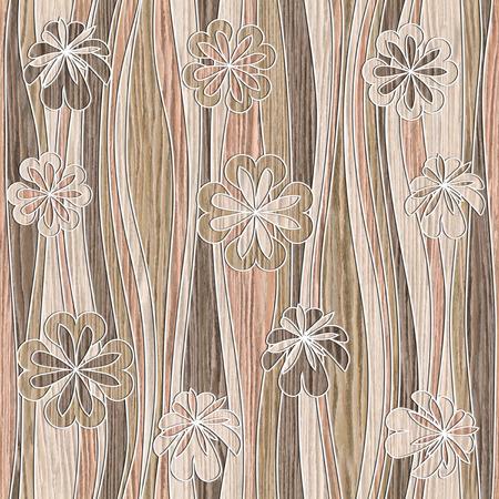 花の壁紙 - 波装飾 写真素材