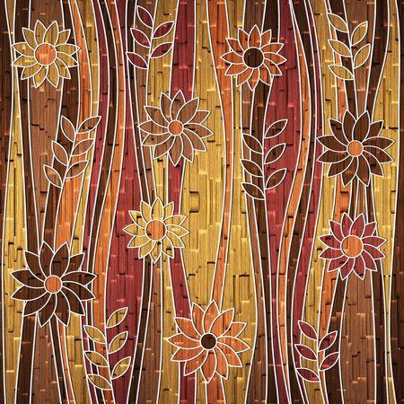 veneer: Decorative flower pattern  Stock Photo